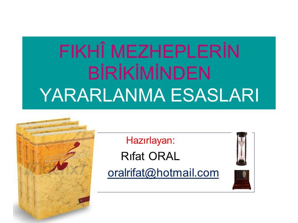 KİTAPLAR: Yayınlanan 13 kitap, ikisi Arapça: (Bunlardan bazıları) *Veda Haccı (Peygamberimizle 27 Gün), DİB, Ankara, 2010 * Kur'ân'la Buluşmak, 2 cilt, İrfan, Konya,2012 * Buluğu'l-Meram Şerhi, 3 cilt (Peygamber Günlerinde İbadet ve Sosyal Hayat), Esra, Konya, 2012