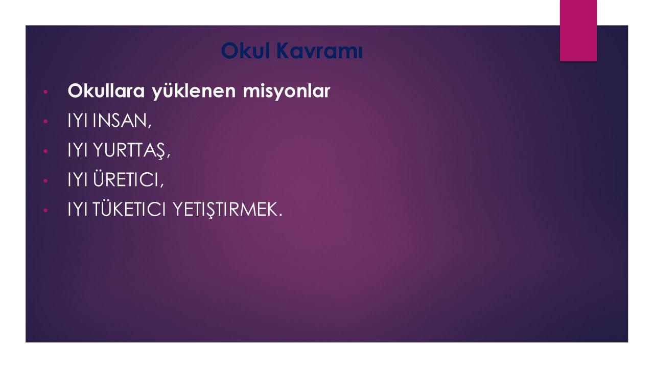 Ivan İllich(Okulsuz Toplum) Okul, toplumu bu haliyle kabullenmeniz için çalışan bir reklam ajansıdır. Okul beyni sınırlar.