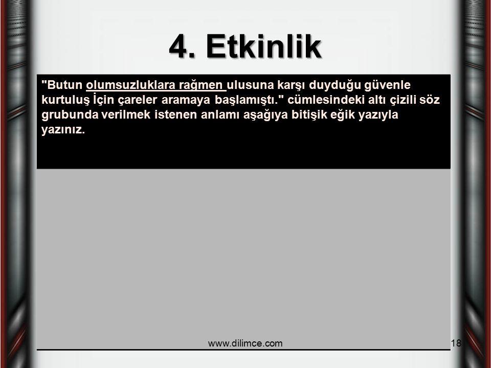 4. Etkinlik