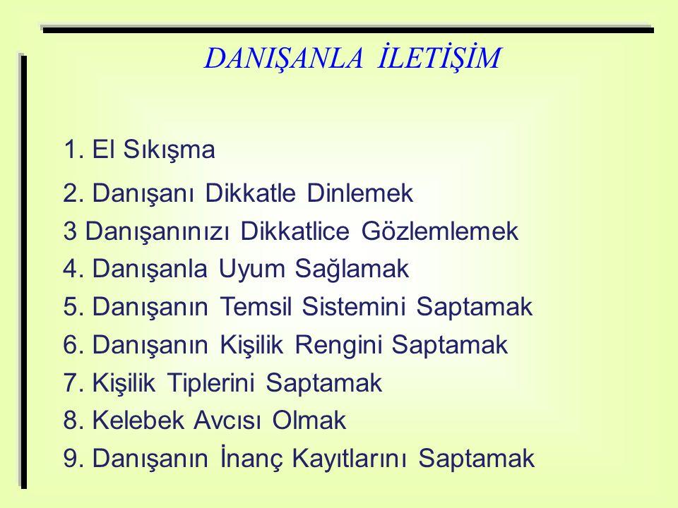 DANIŞANLA İLETİŞİM 1.El Sıkışma 2.