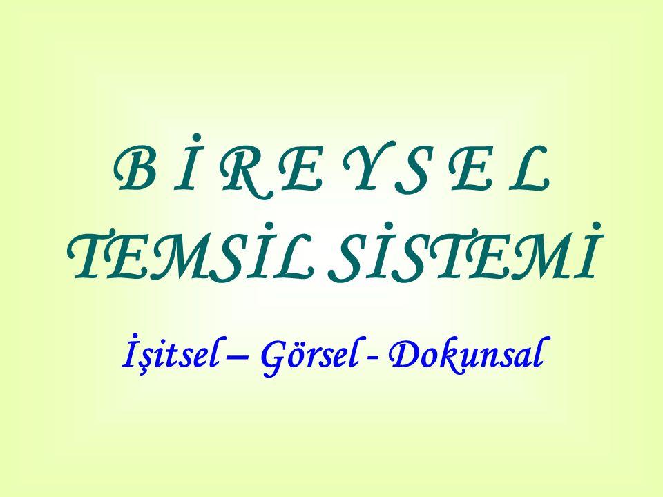 B İ R E Y S E L TEMSİL SİSTEMİ İşitsel – Görsel - Dokunsal