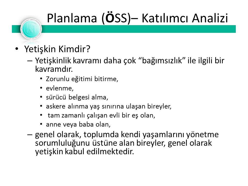 Planlama (ÖSS)– Katılımcı Analizi Yetişkin Kimdir.