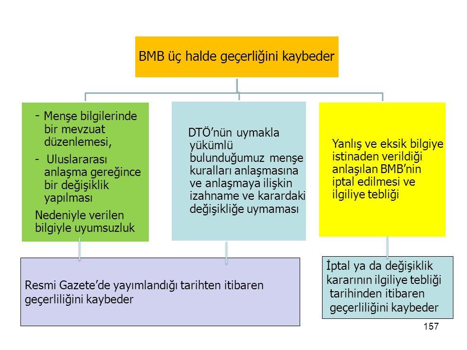 156 BMB İptal Kararı Talep edenin yanlış veya eksik bilgiye dayanarak verildiğinin anlaşılması üzerine Bağlayıcı Menşe Bilgisinin iptal kararı, kararın verildiği tarihten itibaren hüküm ifade eder.