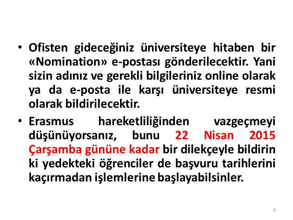 Erasmus Kurum Koordinatörlüğü İLETİŞİM Tel: 202 2085 e-posta: erasmus@gazi.edu.trerasmus@gazi.edu.tr 35
