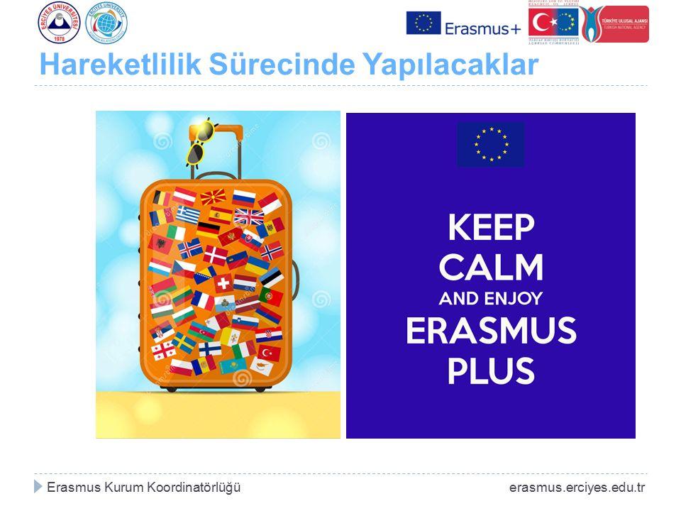 Hareketlilik Sürecinde Yapılacaklar Erasmus Kurum Koordinatörlüğü erasmus.erciyes.edu.tr