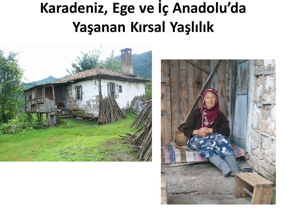 Karadeniz, Ege ve İç Anadolu'da Yaşanan Kırsal Yaşlılık
