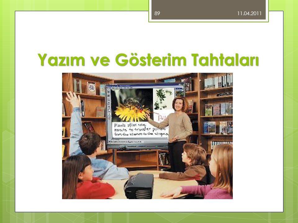 Yazım ve Gösterim Tahtaları 11.04.2011 89
