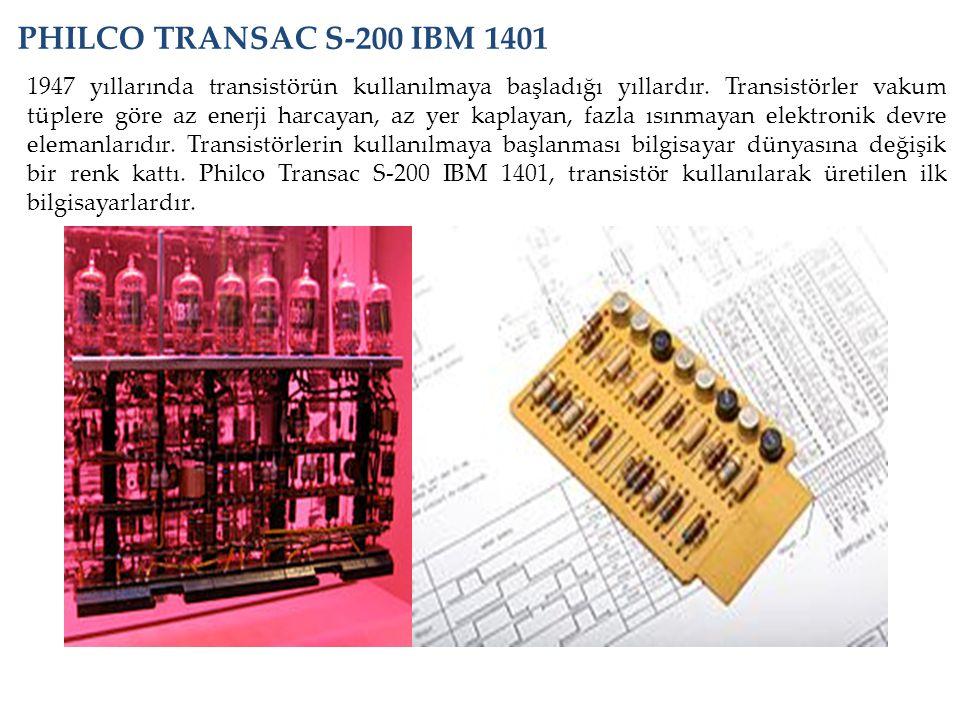 1947 yıllarında transistörün kullanılmaya başladığı yıllardır. Transistörler vakum tüplere göre az enerji harcayan, az yer kaplayan, fazla ısınmayan e