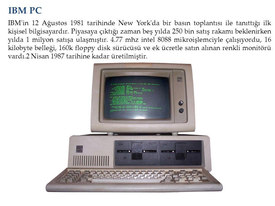 IBM'in 12 Ağustos 1981 tarihinde New York'da bir basın toplantısı ile tanıttığı ilk kişisel bilgisayardır. Piyasaya çıktığı zaman beş yılda 250 bin sa