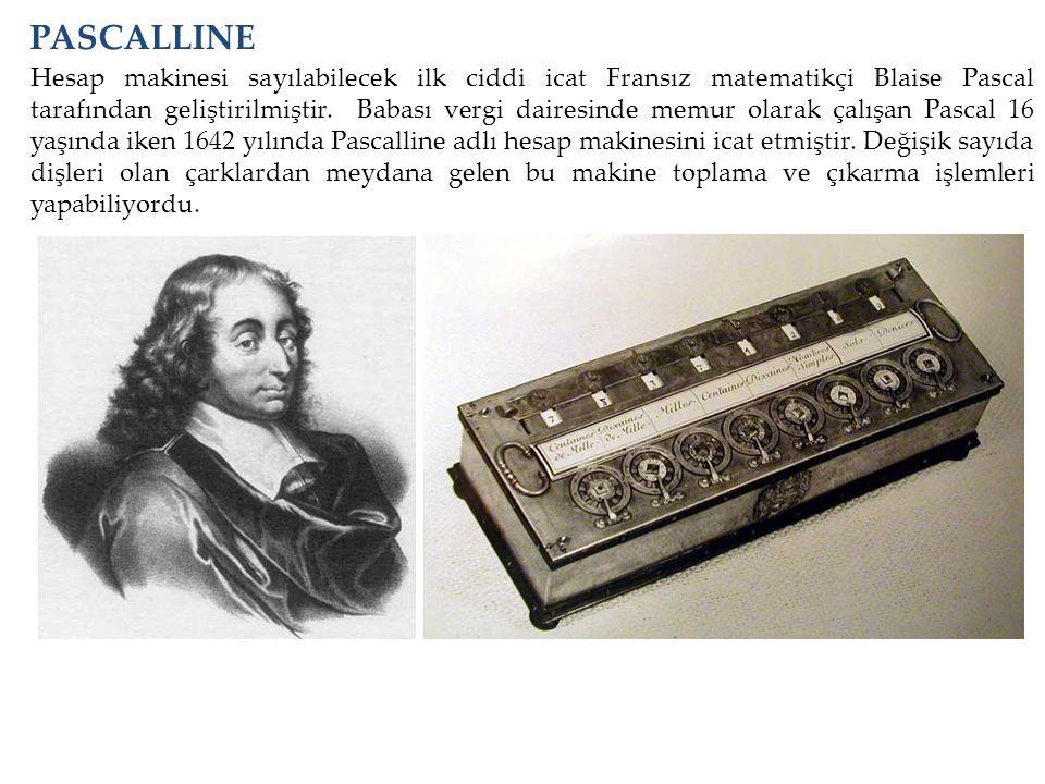 Hesap makinesi sayılabilecek ilk ciddi icat Fransız matematikçi Blaise Pascal tarafından geliştirilmiştir. Babası vergi dairesinde memur olarak çalışa
