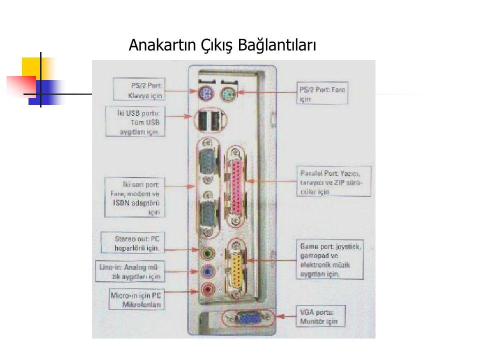 Anakartın Çıkış Bağlantıları