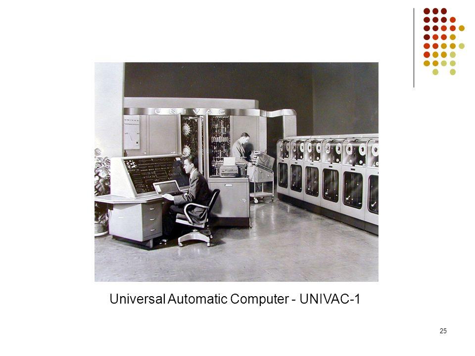 25 Universal Automatic Computer - UNIVAC-1
