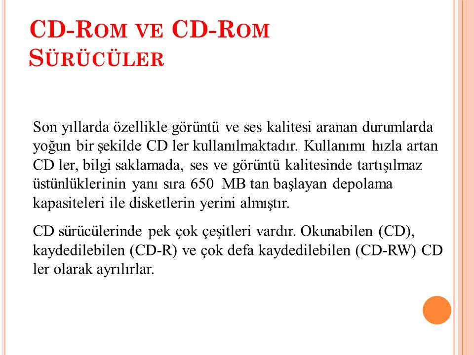CD-R OM VE CD-R OM S ÜRÜCÜLER CD-ROM SÜRÜCÜ CD-ROM