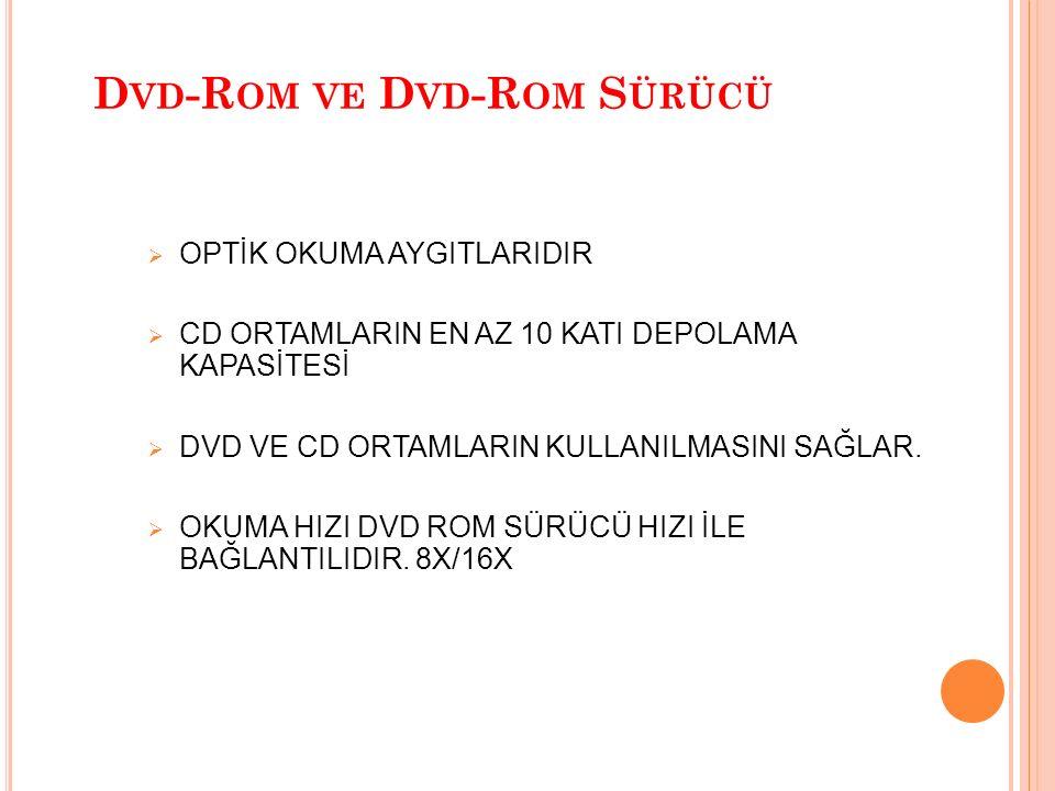 Dvd-Rom ve Dvd-Rom Sürücü