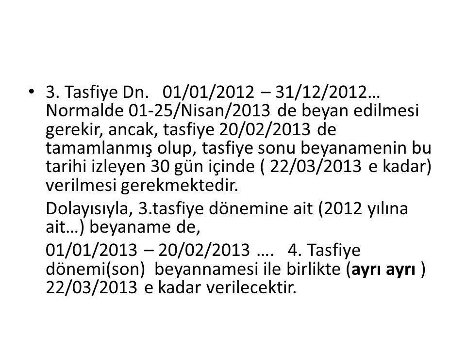 3. Tasfiye Dn.