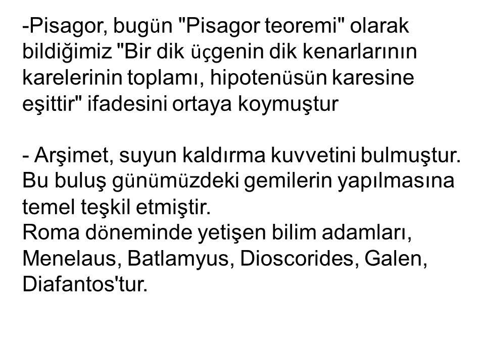 -Pisagor, bug ü n