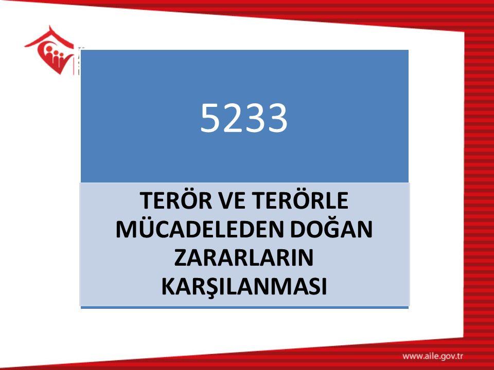 5233 TERÖR VE TERÖRLE MÜCADELEDEN DOĞAN ZARARLARIN KARŞILANMASI