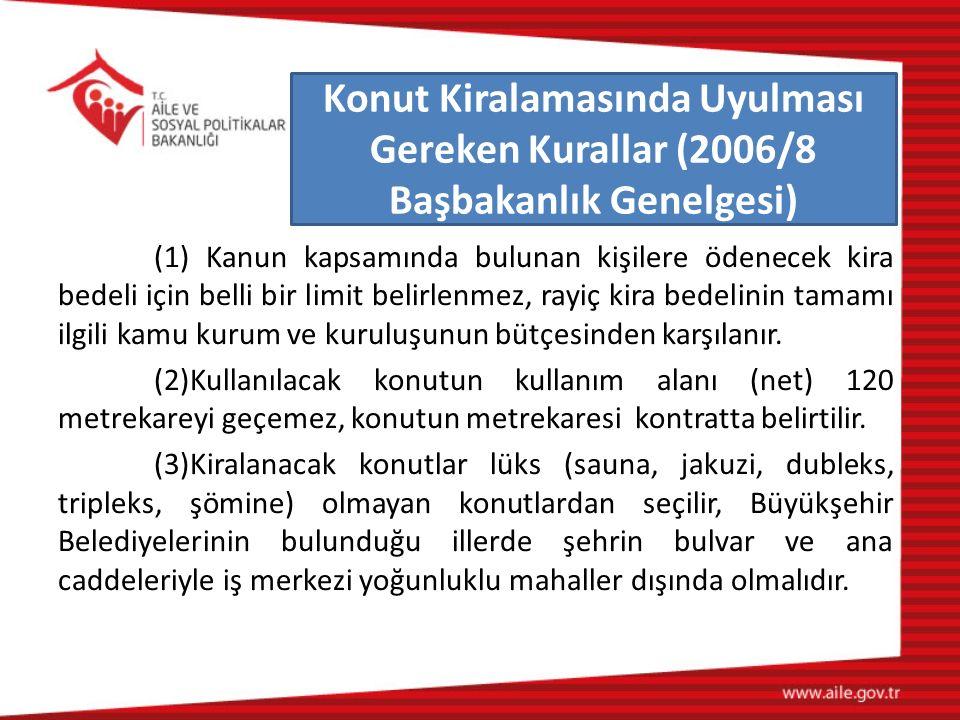 (1) Kanun kapsamında bulunan kişilere ödenecek kira bedeli için belli bir limit belirlenmez, rayiç kira bedelinin tamamı ilgili kamu kurum ve kuruluşu