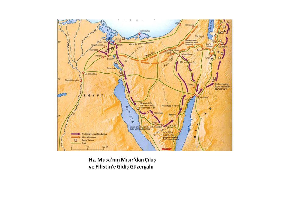 Hz. Musa'nın Mısır'dan Çıkış ve Filistin'e Gidiş Güzergahı