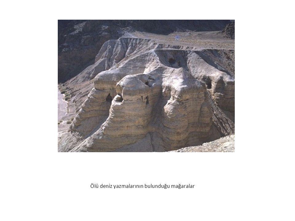 Ölü deniz yazmalarının bulunduğu mağaralar