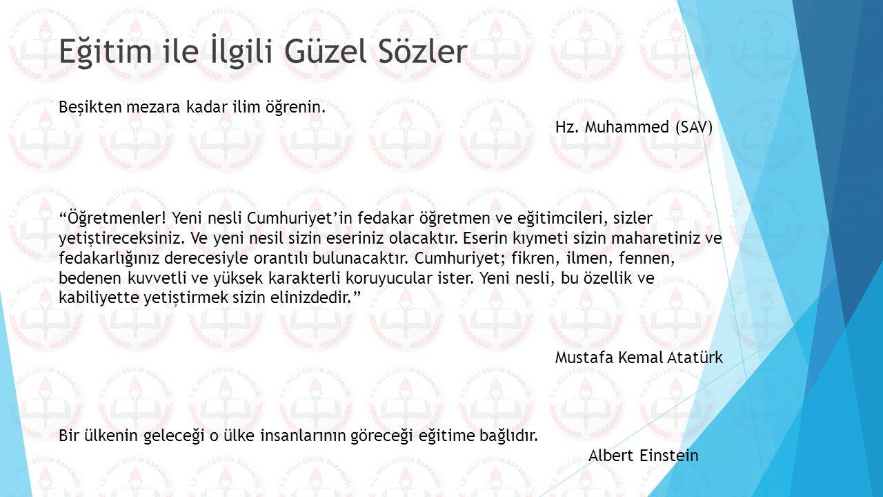 """""""Öğretmenler! Yeni nesli Cumhuriyet'in fedakar öğretmen ve eğitimcileri, sizler yetiştireceksiniz. Ve yeni nesil sizin eseriniz olacaktır. Eserin kıym"""