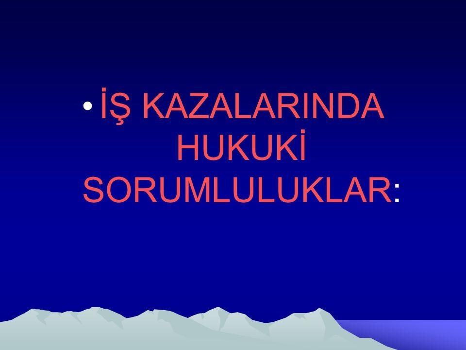 İŞ KAZALARINDA HUKUKİ SORUMLULUKLAR: