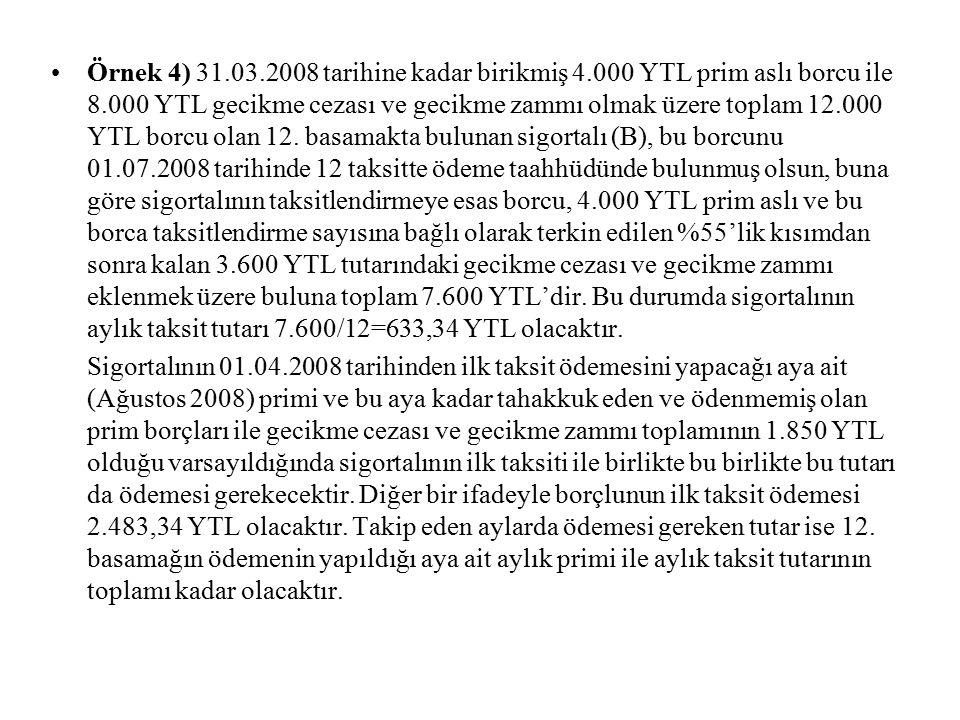 Borçlular borç türü bazında taksitlendirilmiş borçlarıyla ilgili ödeme yükümlülüklerini bir takvim yılında üç defadan fazla yerine getirmemeleri veya eksik yerine getirmeleri ya da bir takvim yılında üç defaya kadar ödenmeyen veya eksik ödenen taksit tutarlarını en geç son taksiti izleyen ayın sonuna kadar gecikilen her ay için Hazine Müsteşarlığınca açıklanacak bir önceki aya ait Yeni Türk Lirası cinsinden iskontolu ihraç edilen Devlet İç Borçlanma Senetlerinin aylık ortalama faiz oranına 1 puan eklenmek suretiyle bulunacak faiz oranının bileşik bazda uygulanması sonucunda hesaplanacak faiz miktarı ile birlikte ödememeleri halinde, geçici 24.