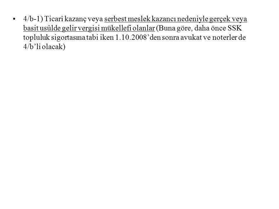 11.06.2008 tarihi itibarıyla İstanbul'da Bağ-Kur Sigortalıları Yapılandırma başvuruları İstatistiki Bilgileri ; Peşin Ödeme Talep ; 7.190, Parasal Karşılığı;45.968.450.-YTL, 1-12 Taksit Talep; 909, Parasal Karşılığı; 5.404.802.-YTL, 13-24 Taksit Talep; 529, Parasal Karşılığı; 4.728.520.-YTL, 1.Basamak Aylık-Sağlık Primi Toplamı; 200,42.-YTL arası, 2.24.