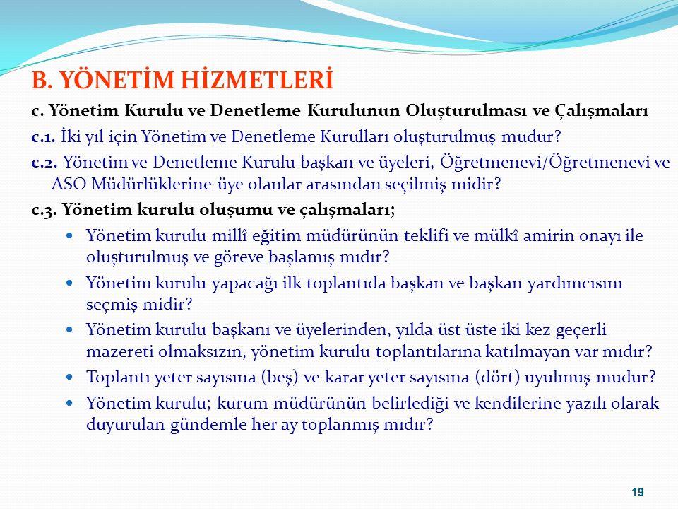 20 B.YÖNETİM HİZMETLERİ c.3.