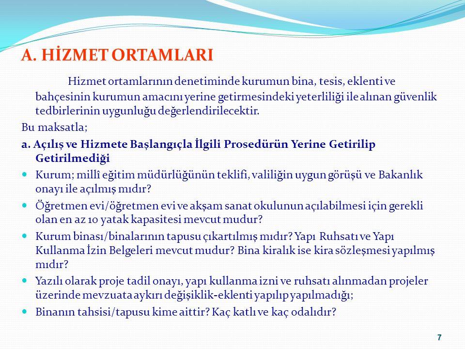 8 A.HİZMET ORTAMLARI b.