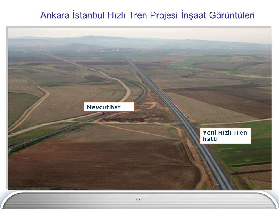 47 Ankara İstanbul Hızlı Tren Projesi İnşaat Görüntüleri Yeni Hızlı Tren hattı Mevcut hat