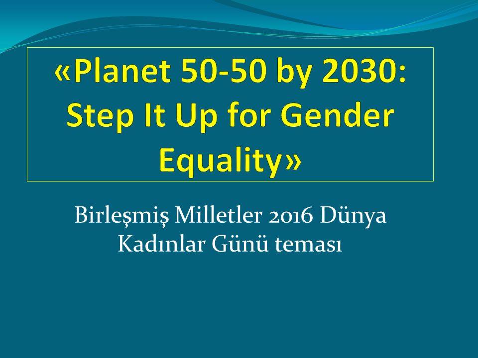 Birleşmiş Milletler 2016 Dünya Kadınlar Günü teması