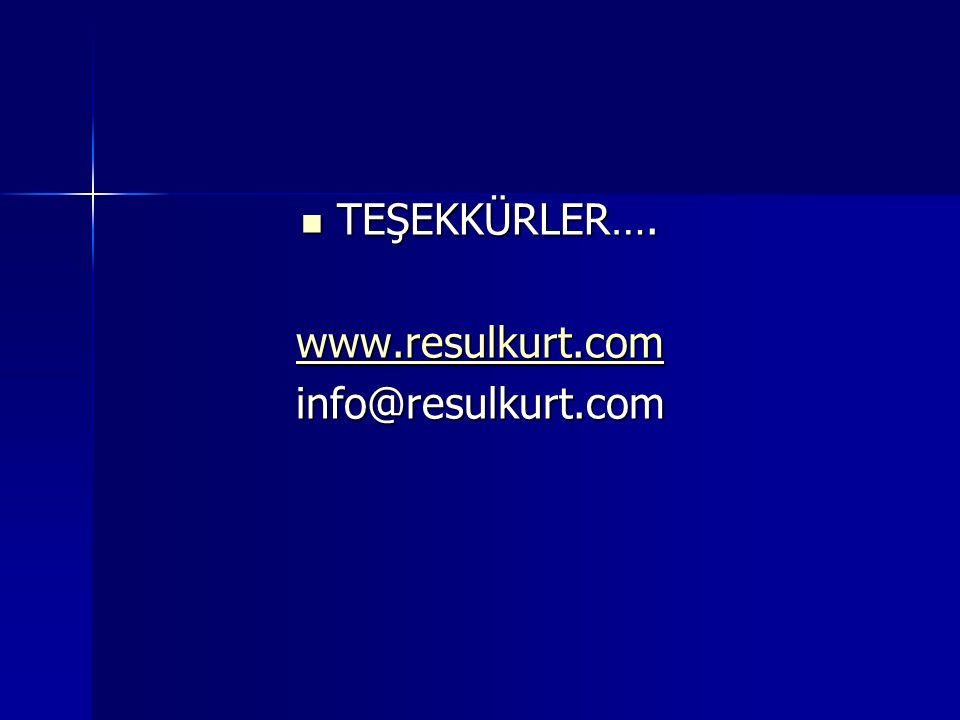 TEŞEKKÜRLER…. TEŞEKKÜRLER…. www.resulkurt.com info@resulkurt.com