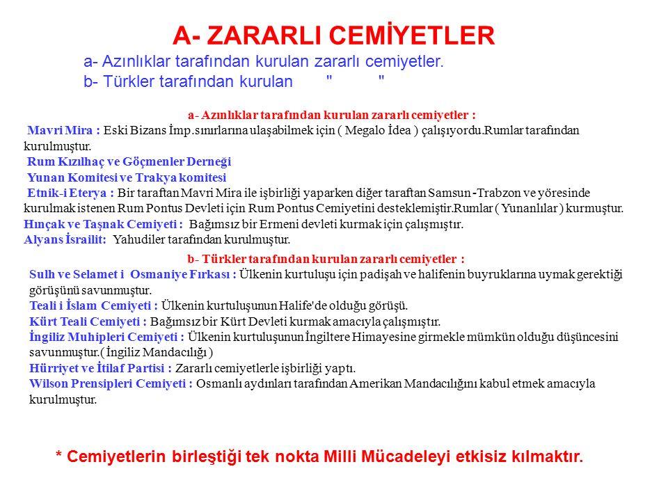 Türklerin batı Anadolu'da Hristiyanları katletmek üzere oldukları propagandasıyla 7.maddeye dayanılarak İzmir İşgal edildi.Osmanlı Hükümeti işgale kay