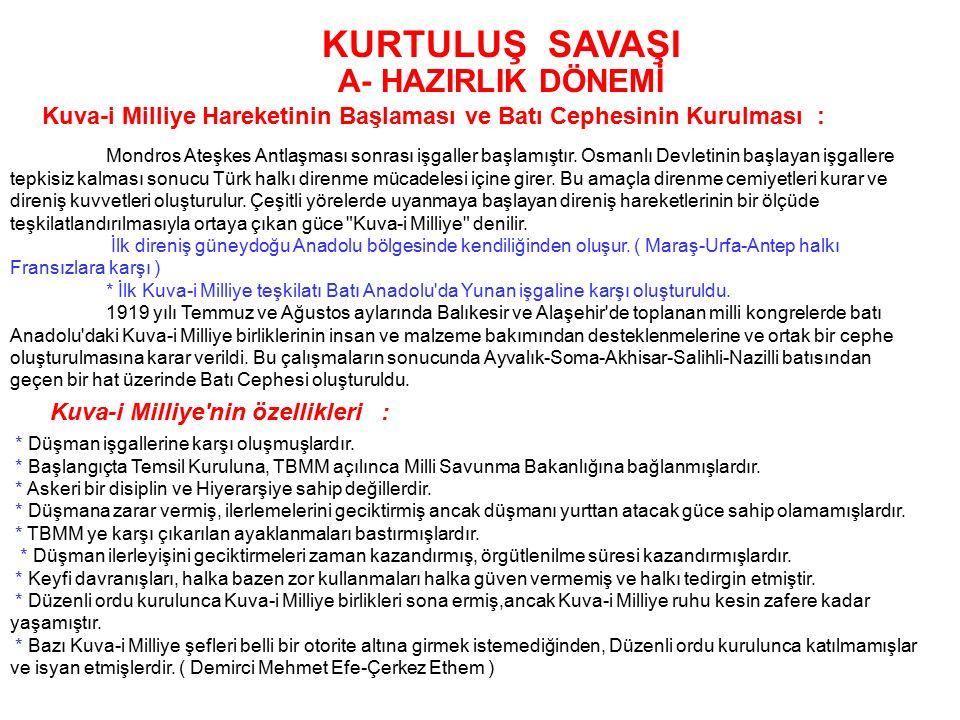 B- MİLLİ ( YARARLI CEMİYETLER ) Özellikleri :  Milli Milli Cemiyetlerin kurulmasının temelinde Türklerin bağımsız kalmak amacı yatmaktadır.  Cemiyet