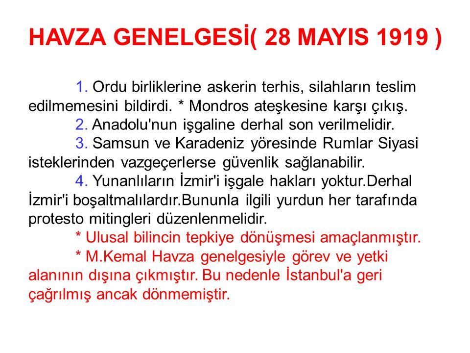 Mustafa Kemal Samsun'a Dokuzuncu Ordu Müfettişi olarak görevlendirilerek çıktı.Görevi doğu Karadeniz'de kurulmak istenen Pontus Rum Devletine karşı mü