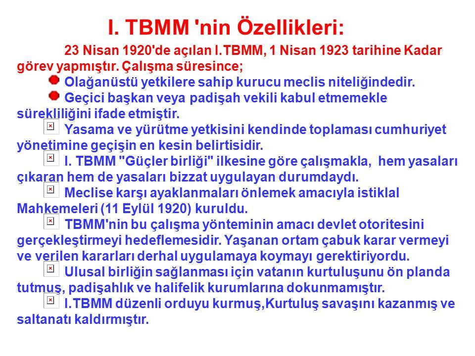 TBMM'NİN AÇILMASININ ÖNEMİ: TBMM bu önergeyi kabul etti. Böylece ; ulus egemenliğine dayanan yeni Türk devletinin temelleri atılmış oldu. Mustafa Kema