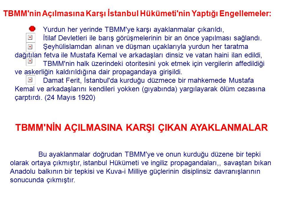 Yeni Türk devletinin ilk anayasası olan, 20 Ocak1921'de kabul edilen Teşkilat-ı Esasiye'nin özünü Mustafa Kemal'in 24 Nisan - 13 Eylül 1920'de TBMM'ye
