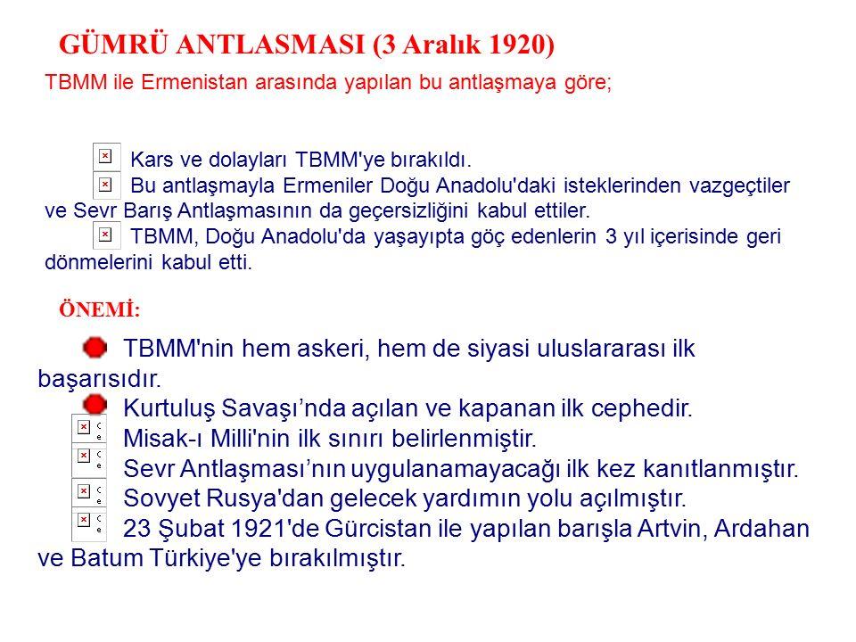 1) DOĞU CEPHESI l. Dünya Savası'nda Ruslarla isbirligi yapan Ermeniler, Sevr Barışı ile Dogu Anadolu'da Errneni Devleti vaadiyle düsmanca girisimlerin