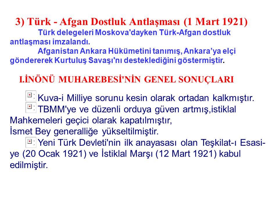 Önemi: Dikkat: Bu antlaşma ile Batum'un Gürcistan'a bırakılması kabul edilerek Misak-ı Milli'den ilk ödün verilmiştir. 2) Moskova antlaşması (16 Mart