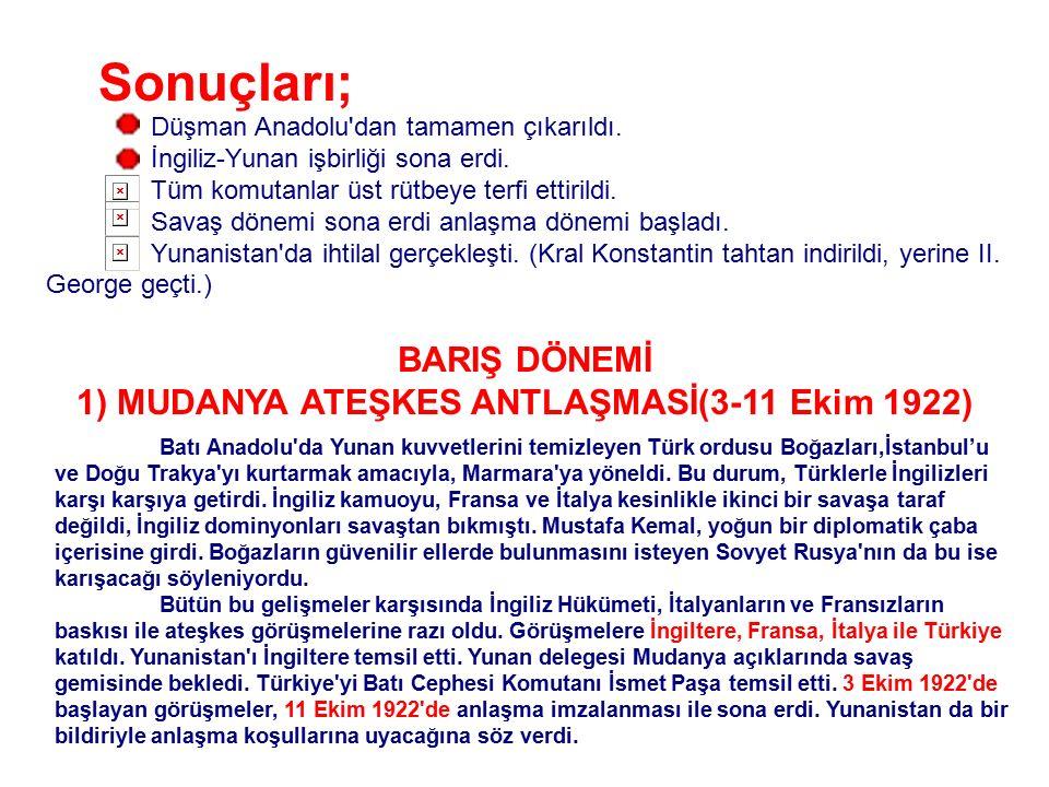 BÜYÜK TAARRUZ (26 Ağustos - 9 Eylül 1922) Sakarya'da yenilen düşman, işgal ettikleri yerleri ellerinde tutmak için artık savunmaya önem veriyordu.Türk