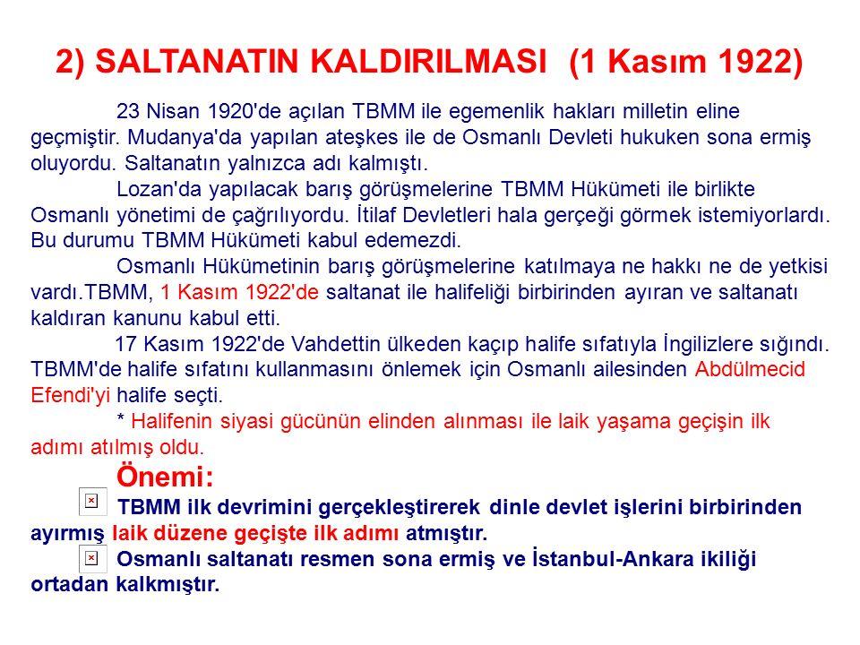 Mudanya Ateşkes Antlaşması'na Göre; 14-15 Ekim gecesinden itibaren silahlı çatışmalar duracaktır. Yunanlılar Doğu Trakya'yı hemen boşaltacaklar ve TBM