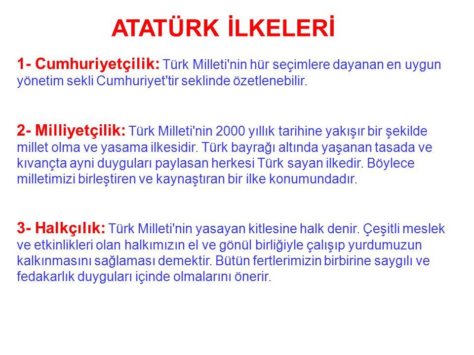 ÖNEMİ: Misak-ı Milli sınırları içinde tam bağımsız bir Türk Devleti'nin varlığı tüm dünyaca kabul ettirilmiştir. Misak-ı Milli sınırlarına büyük ölçüd