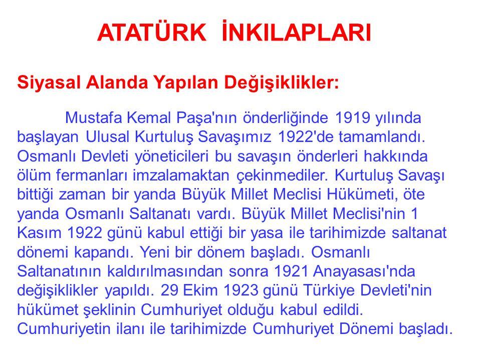 Atatürk ilkelerinin amacı Türk insaninin atılgan, yaratıcı, barışçı, birleştirici yapmaktır. Büyük Atatürk hayatta iken kendi de bu ilkeleri uygulamış