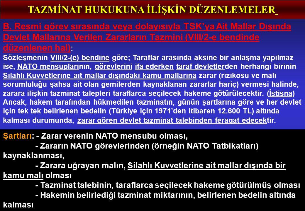 TAZMİNAT HUKUKUNA İLİŞKİN DÜZENLEMELER B.