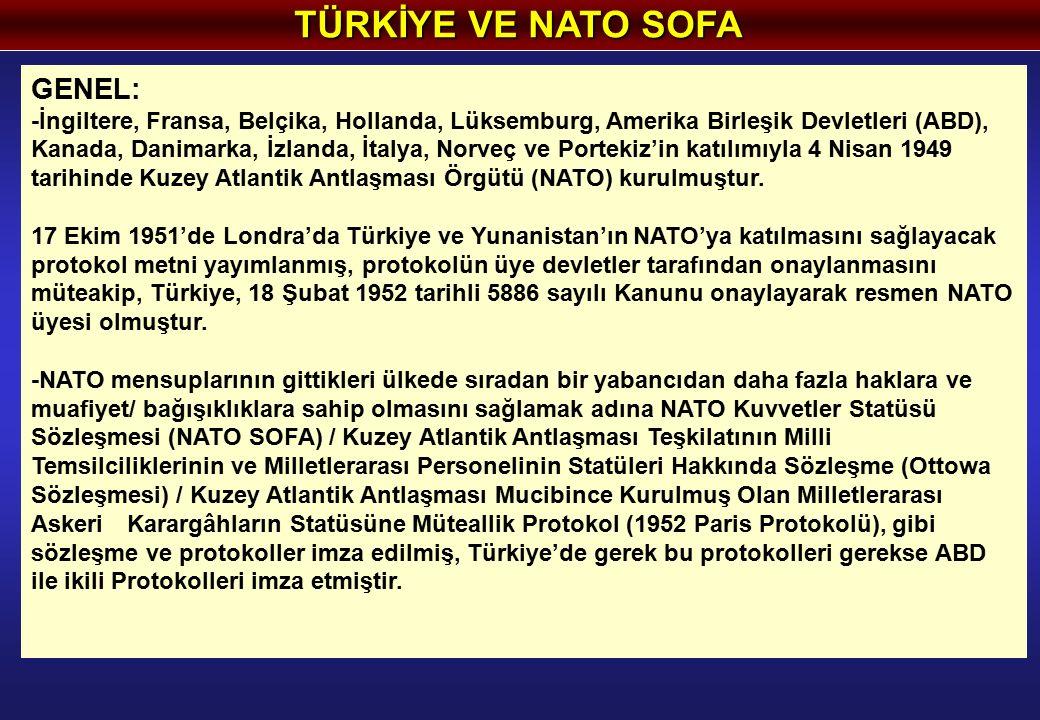 GENEL: -İngiltere, Fransa, Belçika, Hollanda, Lüksemburg, Amerika Birleşik Devletleri (ABD), Kanada, Danimarka, İzlanda, İtalya, Norveç ve Portekiz'in katılımıyla 4 Nisan 1949 tarihinde Kuzey Atlantik Antlaşması Örgütü (NATO) kurulmuştur.