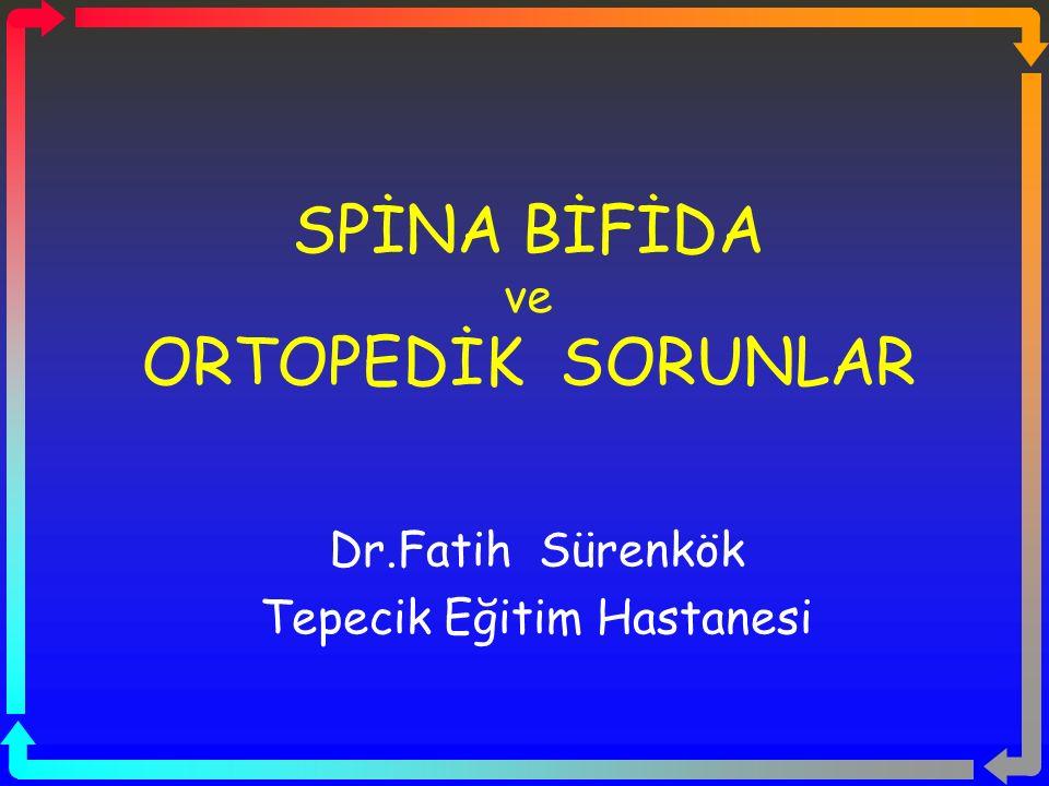 SPİNA BİFİDA ve ORTOPEDİK SORUNLAR Dr.Fatih Sürenkök Tepecik Eğitim Hastanesi