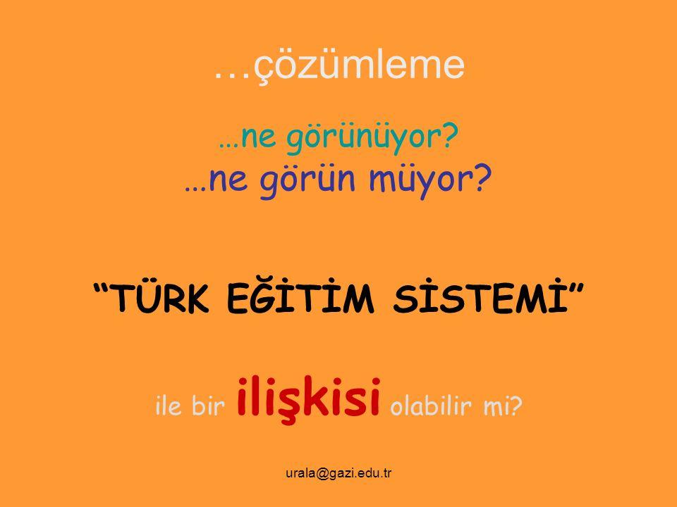 urala@gazi.edu.tr …sunum planı PISA'nın genel tanıtımı ve 2003, 2006 araştırmaların Türkiye'ye ilişkin genel sonuçları.