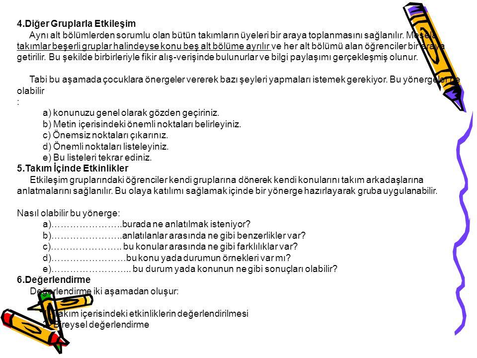 Kaynaklar Senemoğlu, Nuray, Gelişim Öğrenme ve Öğretim, Gazi Kitapevi, 2004 Milli Eğitim Dergisi sayı 153-154 Kış-Bahar 2002 Oktaylar,Hasan Can, KPSS Eğitim Bilimleri, Yargı Yayınları, 2005