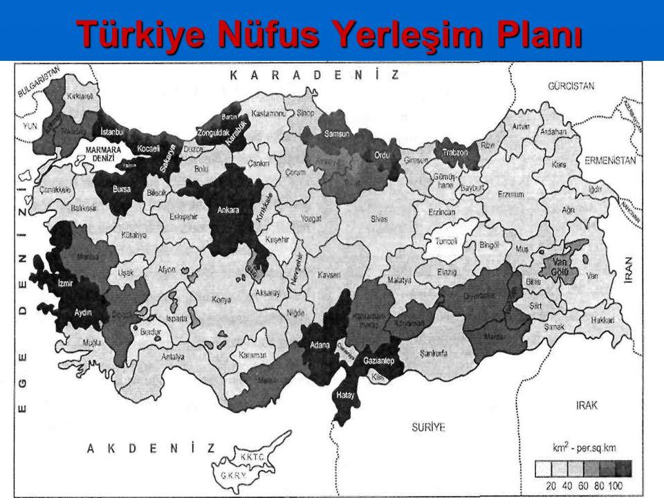 15 Türkiye Nüfus Yerleşim Planı